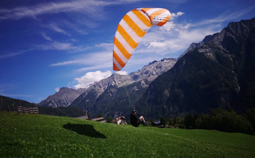 Paragliding-Start in Südtirol